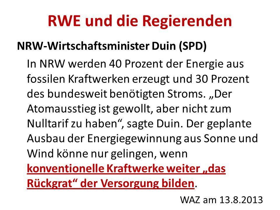 RWE und die Regierenden