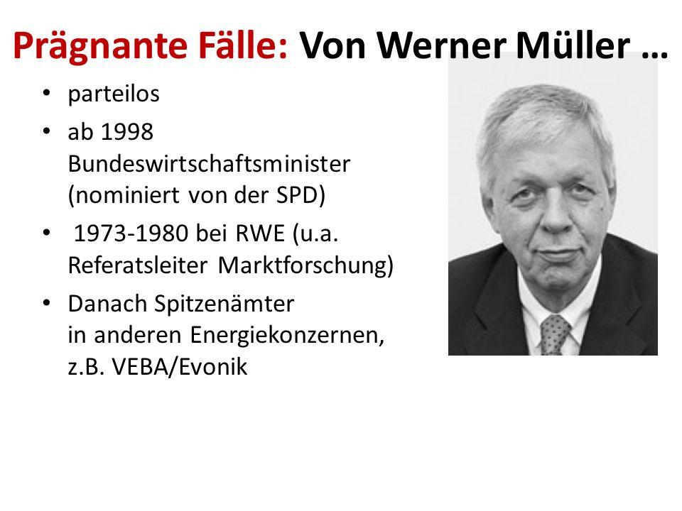 Prägnante Fälle: Von Werner Müller …
