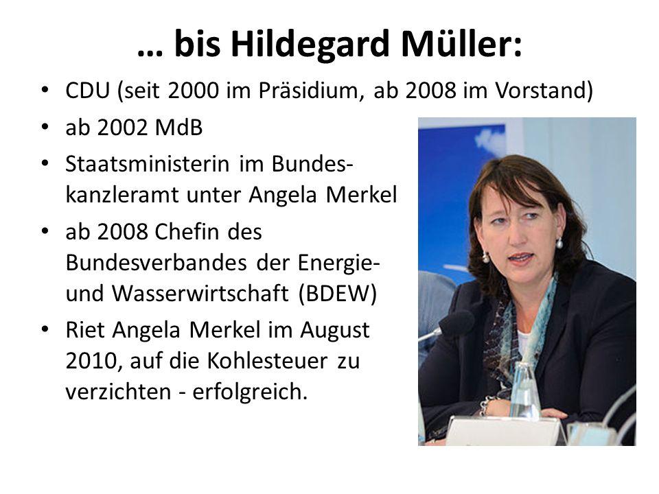 … bis Hildegard Müller: