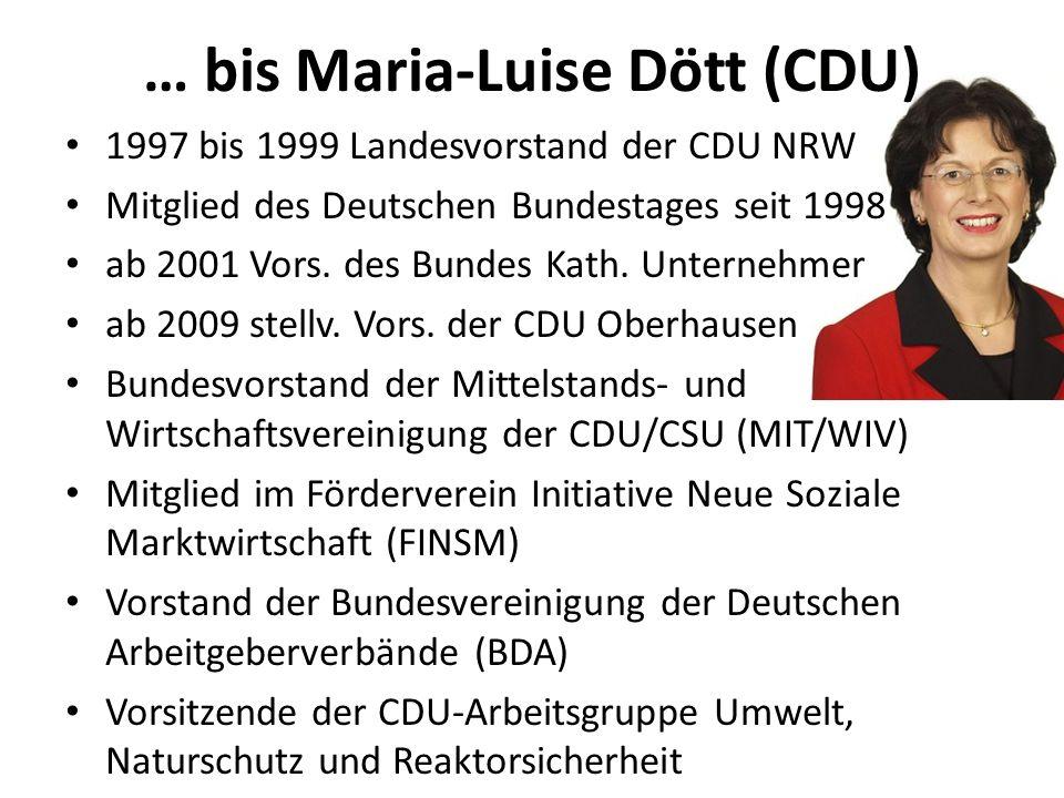 … bis Maria-Luise Dött (CDU)