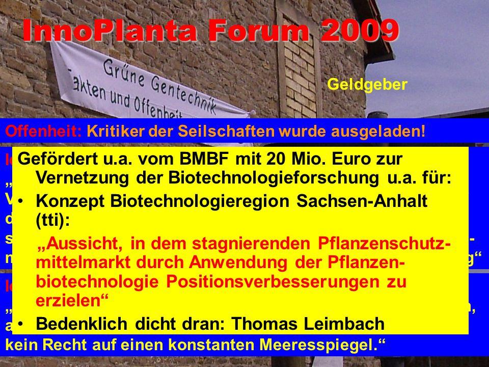InnoPlanta Forum 2009 Firmen Behörden