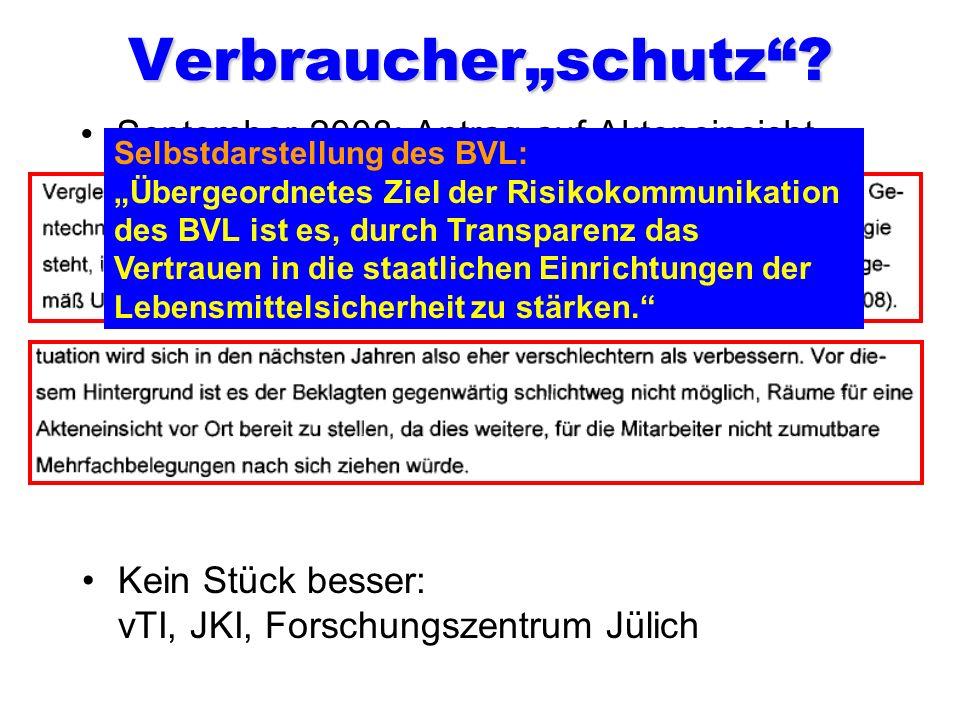 """Verbraucher""""schutz September 2008: Antrag auf Akteneinsicht"""