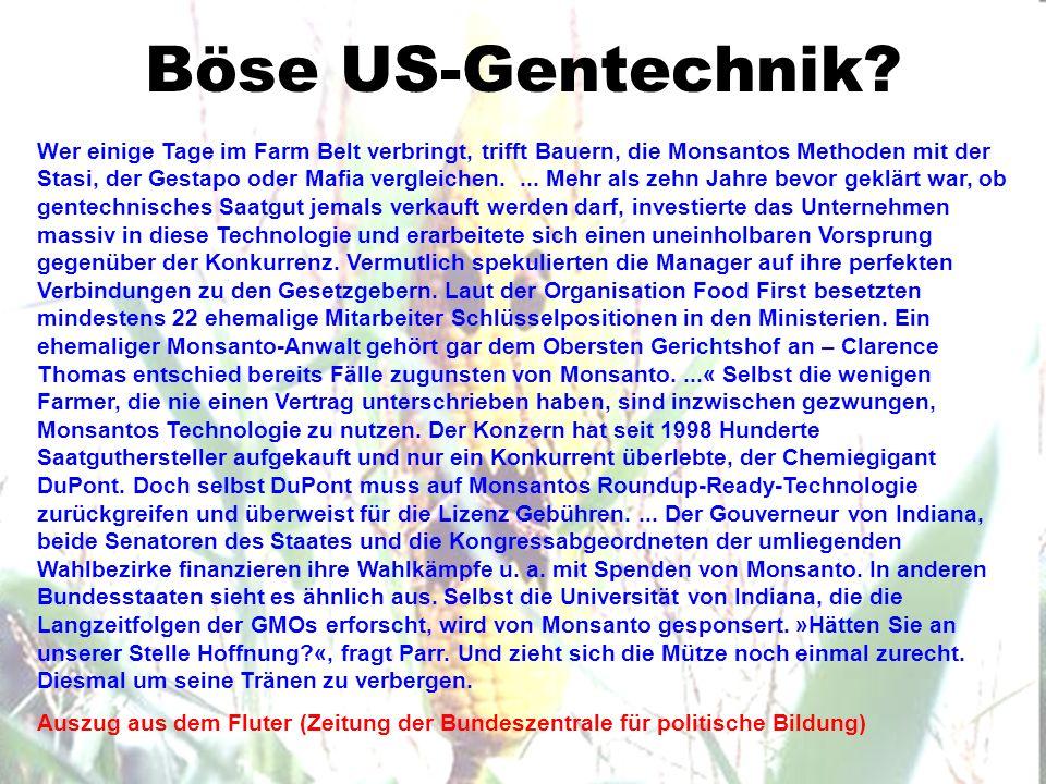 Böse US-Gentechnik