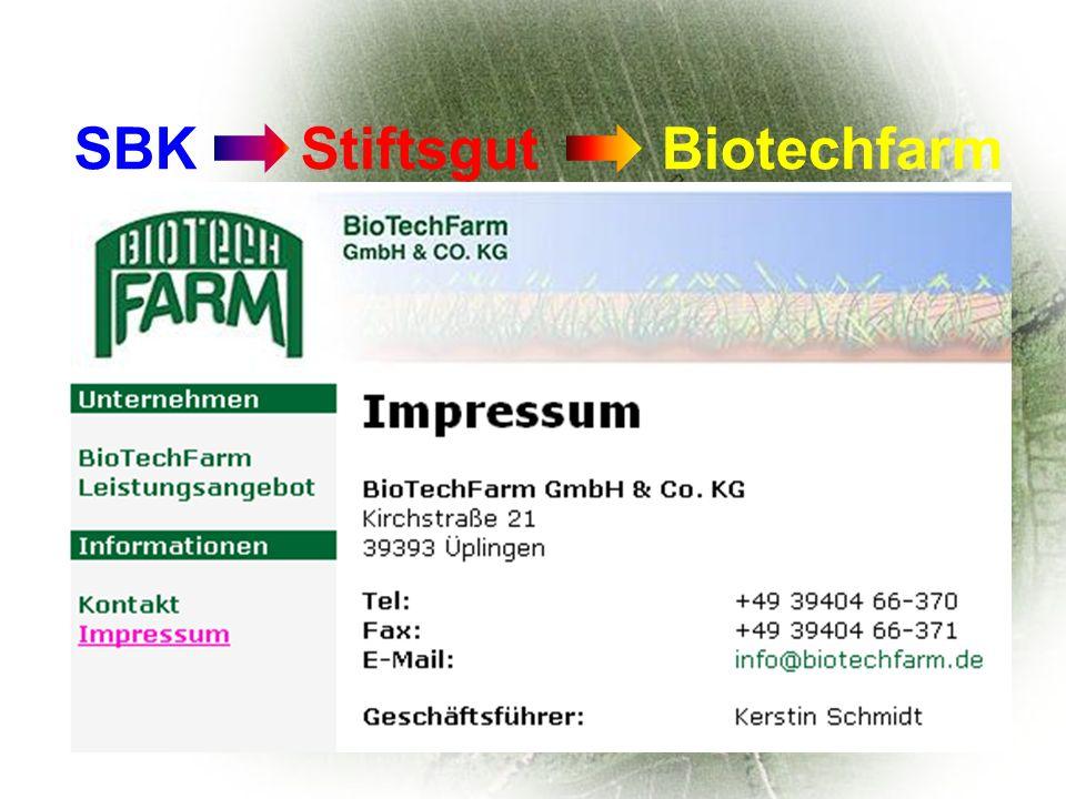 SBK Stiftsgut Biotechfarm Uni oder Konzerne biovativ