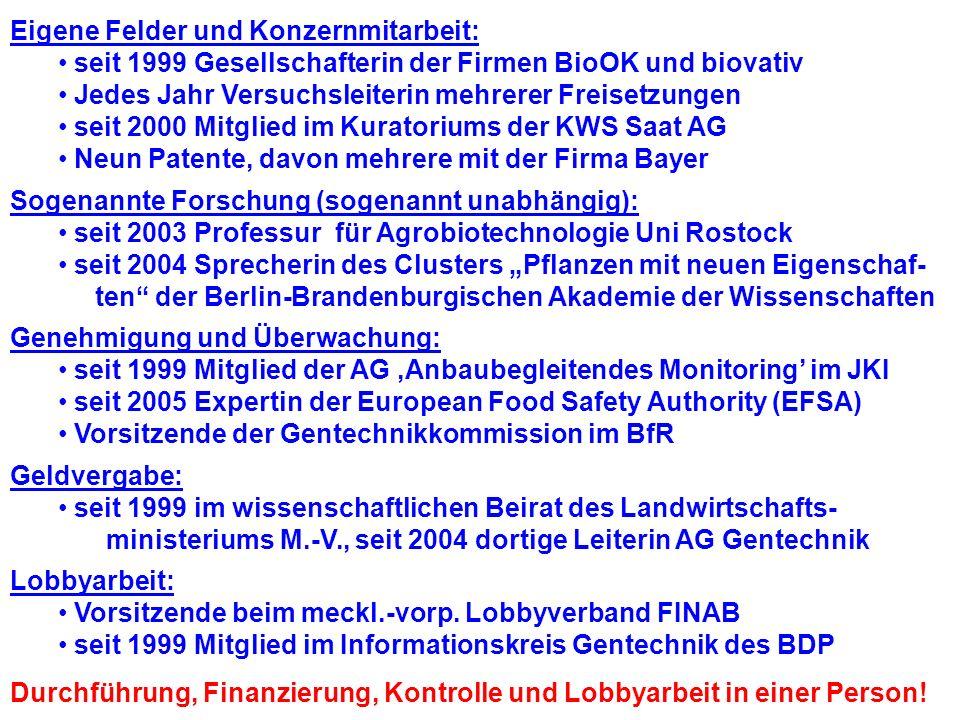 Inge Broer Prof. für Agrobiotechnologie an der Uni Rostock