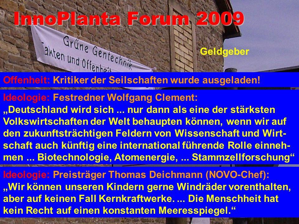 InnoPlanta Forum 2009 Firmen Behörden Geldgeber