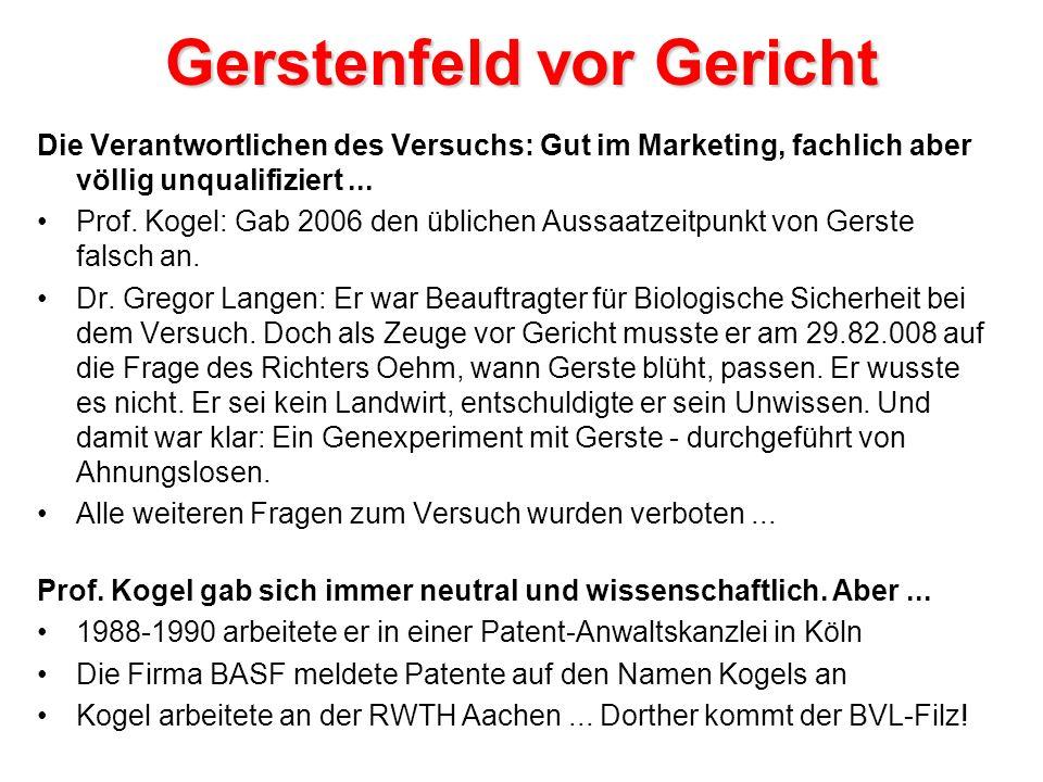Gerstenfeld vor Gericht