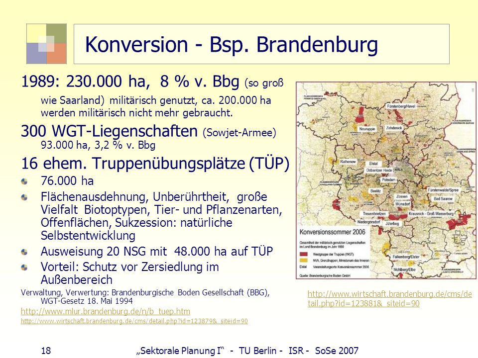 Konversion - Bsp. Brandenburg