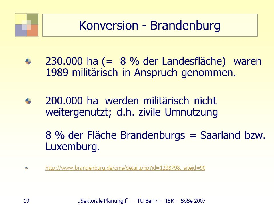 Konversion - Brandenburg