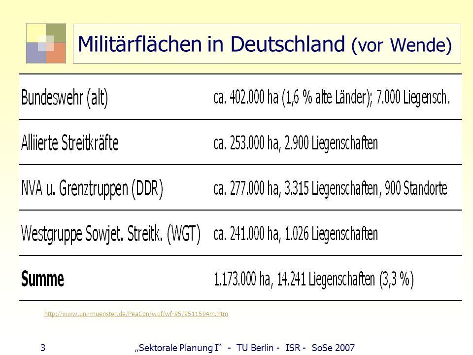 Militärflächen in Deutschland (vor Wende)