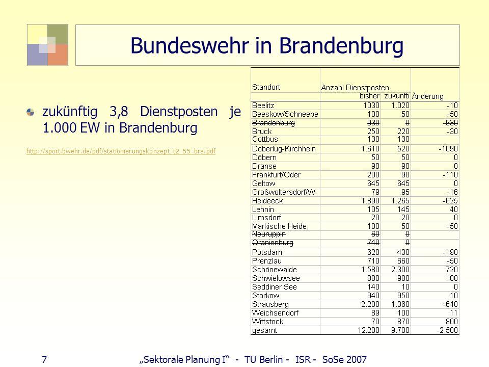 Bundeswehr in Brandenburg