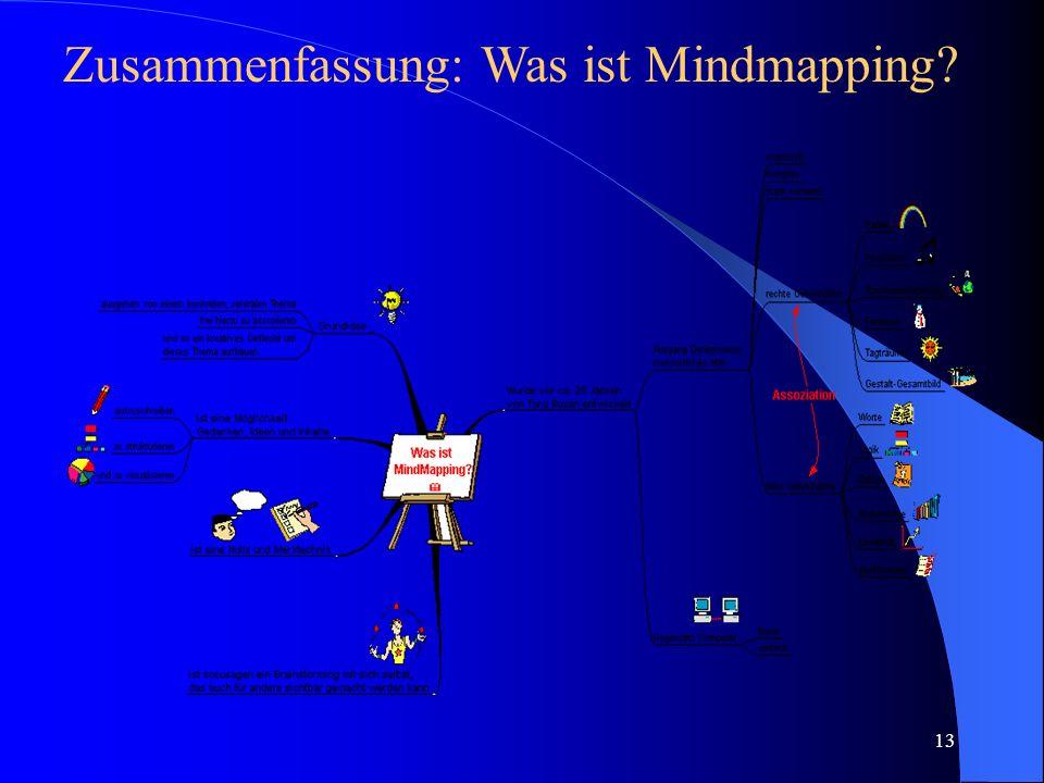 Zusammenfassung: Was ist Mindmapping