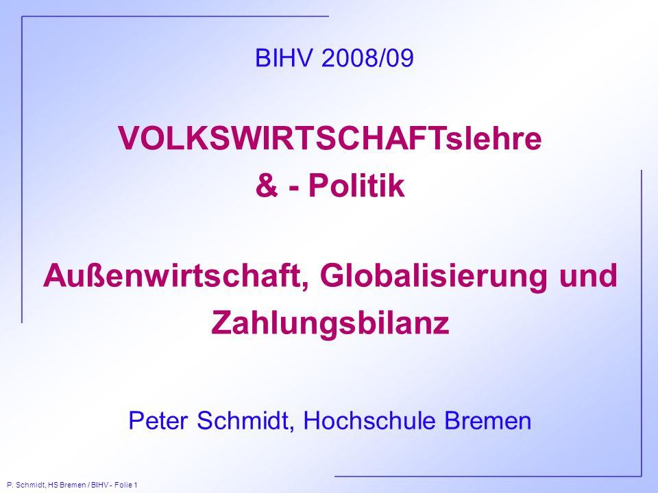 VOLKSWIRTSCHAFTslehre & - Politik