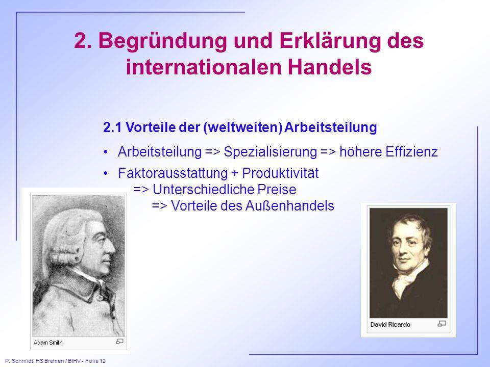 2. Begründung und Erklärung des internationalen Handels