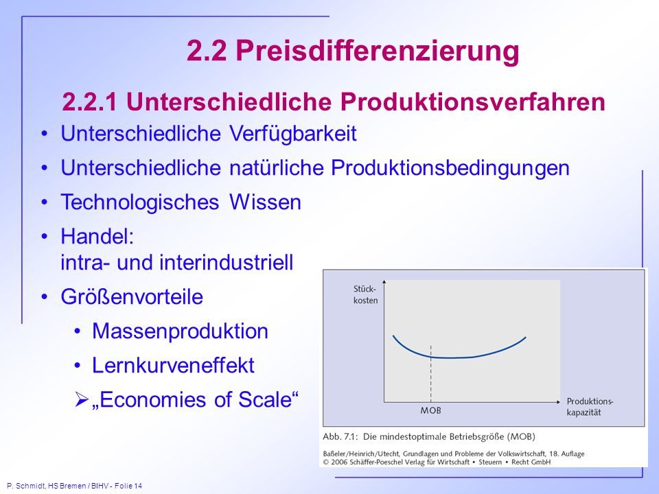 2.2.1 Unterschiedliche Produktionsverfahren