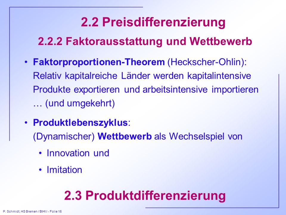 2.2.2 Faktorausstattung und Wettbewerb