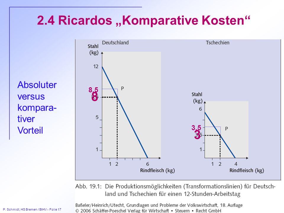 "2.4 Ricardos ""Komparative Kosten"