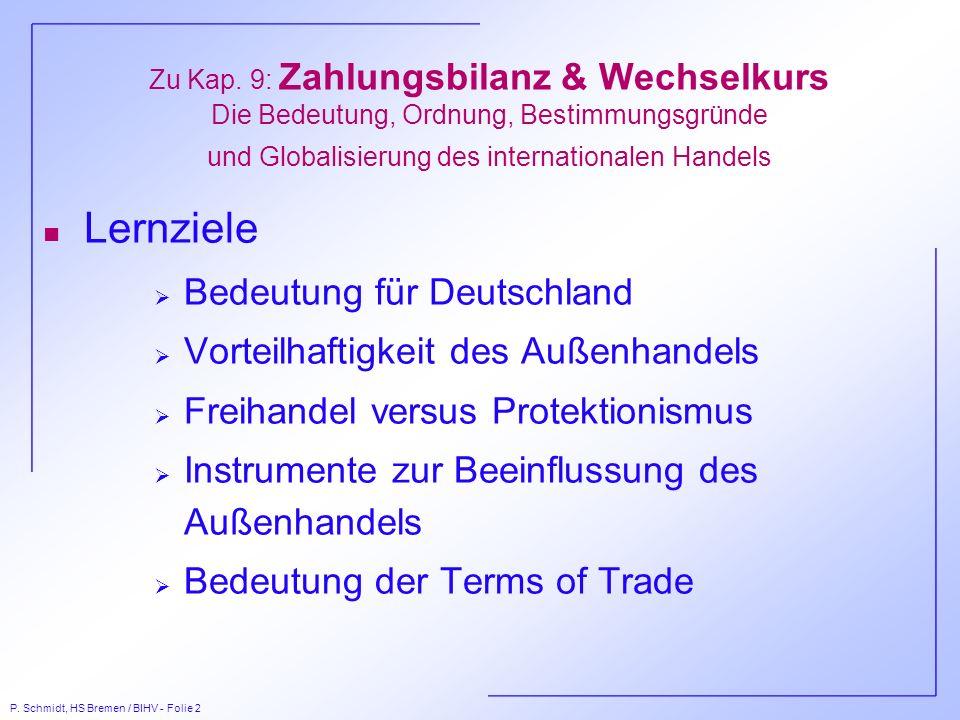 Lernziele Bedeutung für Deutschland Vorteilhaftigkeit des Außenhandels
