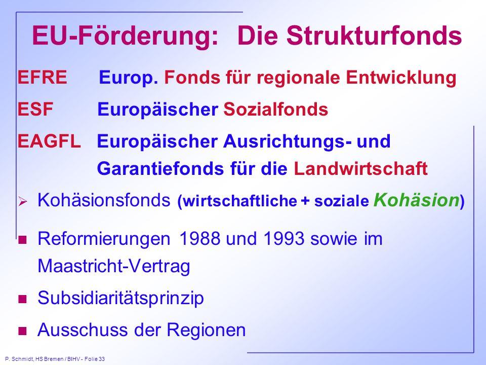 EU-Förderung: Die Strukturfonds
