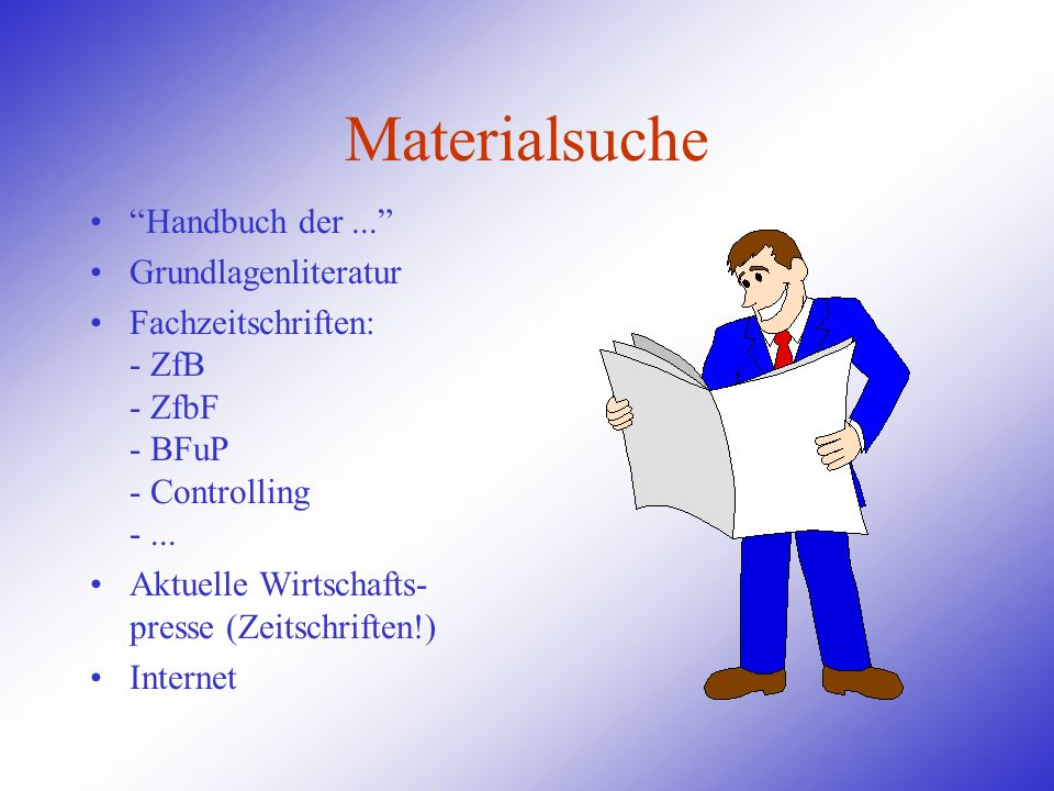 Materialsuche Handbuch der ... Grundlagenliteratur