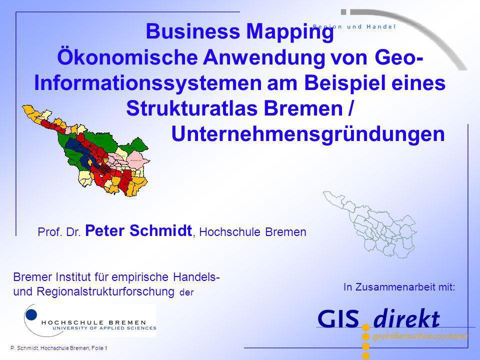 Prof. Dr. Peter Schmidt, Hochschule Bremen