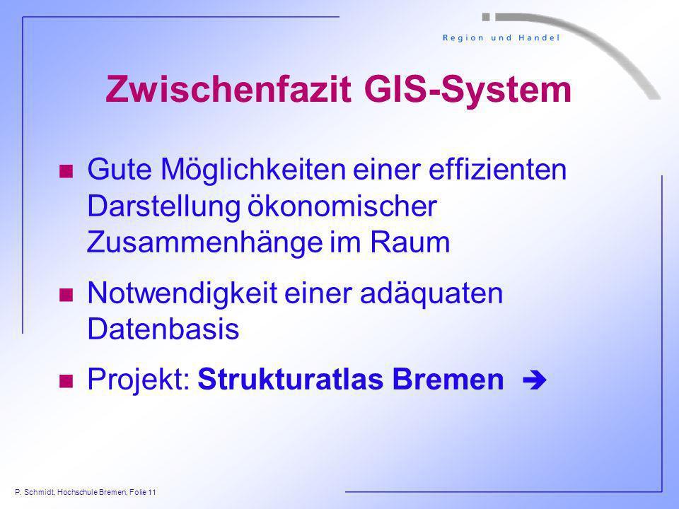Zwischenfazit GIS-System
