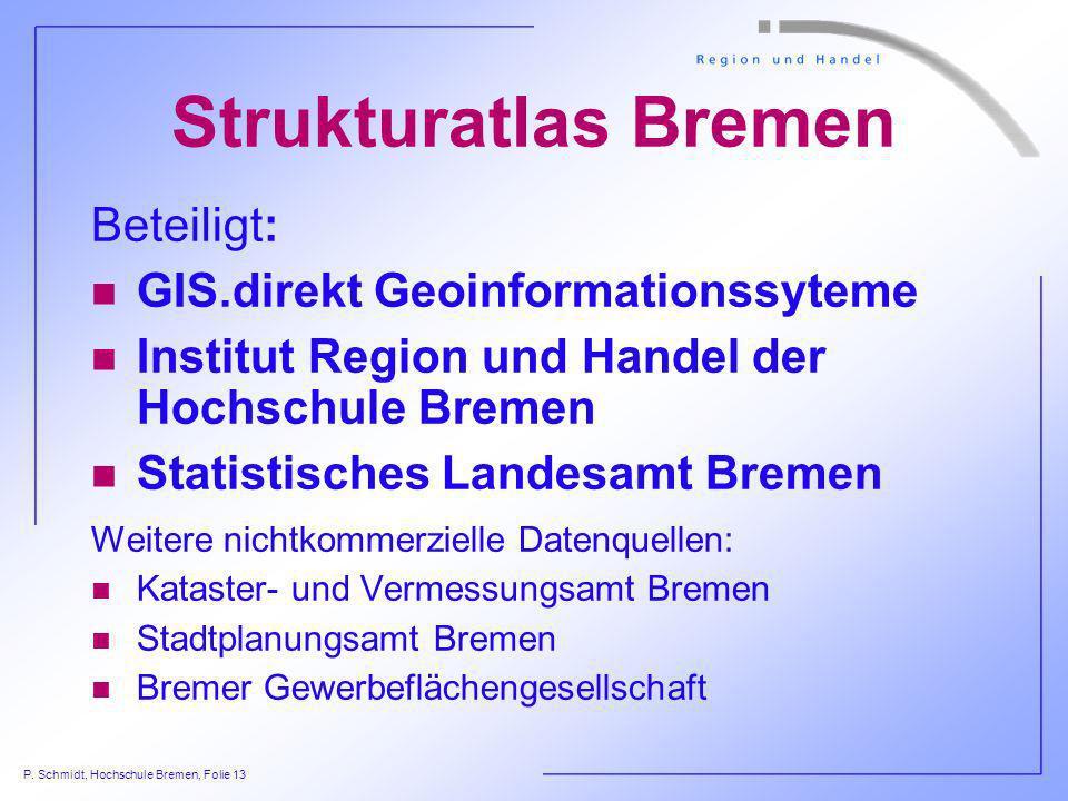 Strukturatlas Bremen Beteiligt: GIS.direkt Geoinformationssyteme