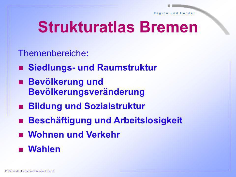 Strukturatlas Bremen Themenbereiche: Siedlungs- und Raumstruktur