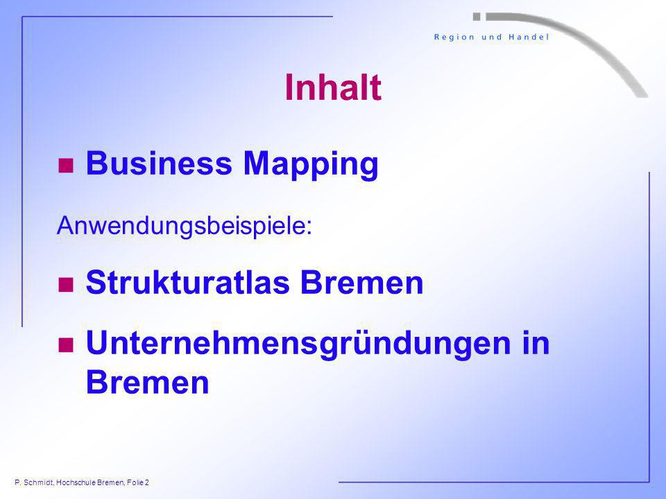 Inhalt Business Mapping Strukturatlas Bremen