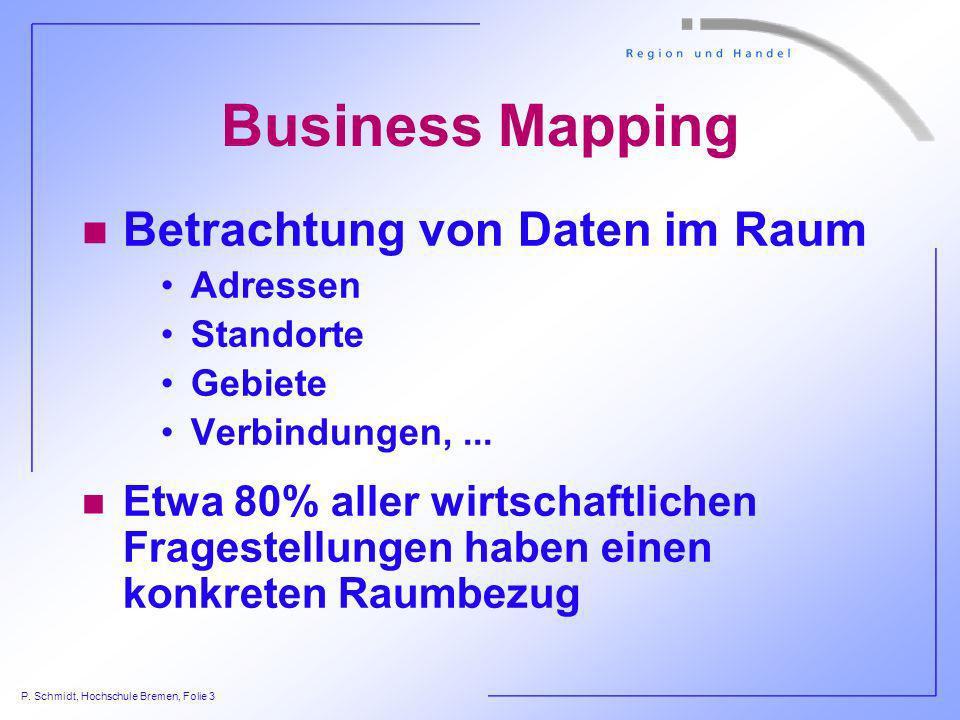 Business Mapping Betrachtung von Daten im Raum