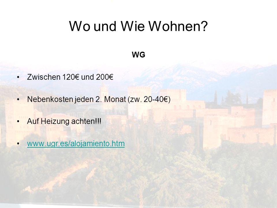 Wo und Wie Wohnen WG Zwischen 120€ und 200€