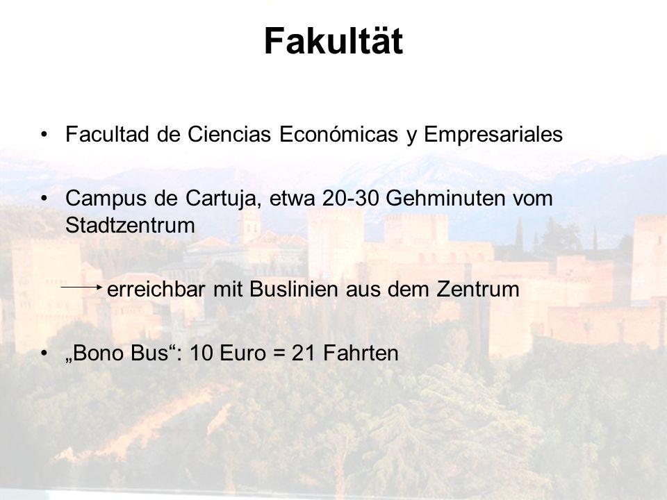 Fakultät Facultad de Ciencias Económicas y Empresariales