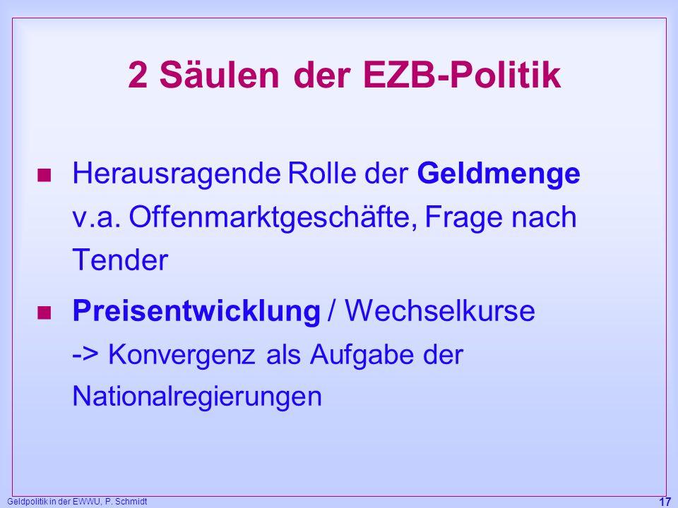 2 Säulen der EZB-Politik