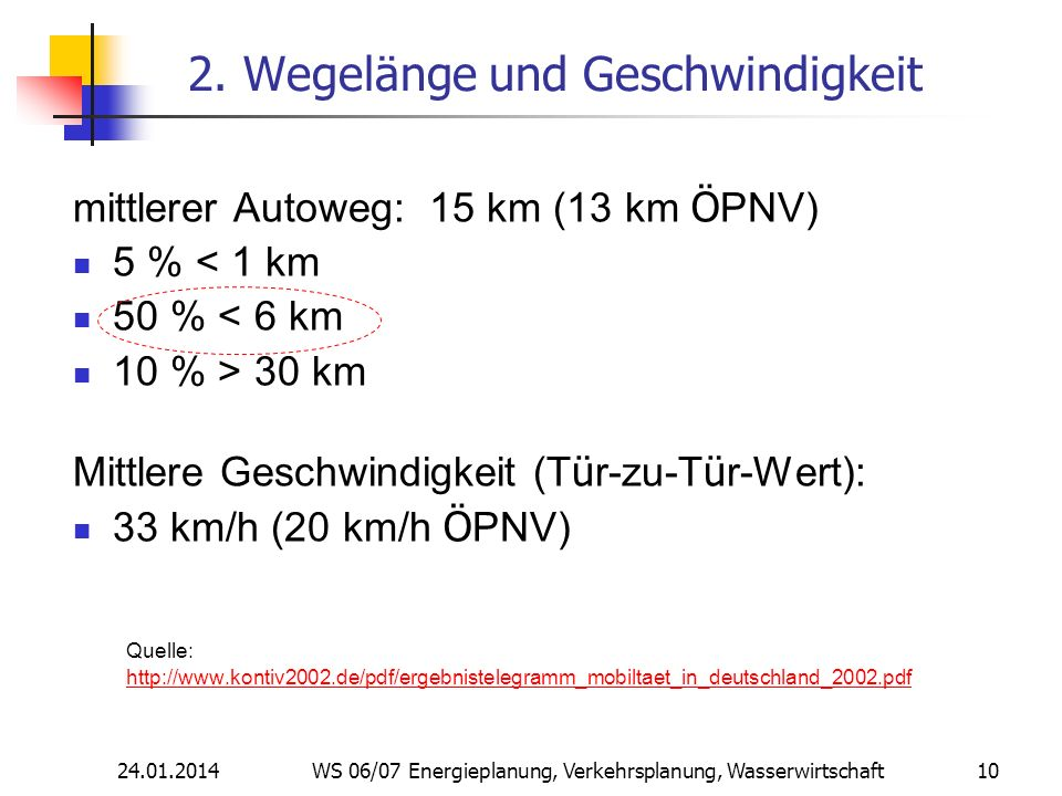 2. Wegelänge und Geschwindigkeit