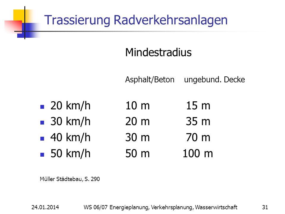 Trassierung Radverkehrsanlagen