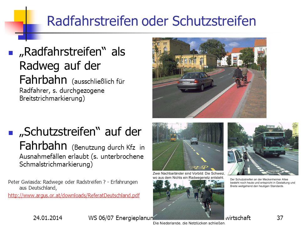 Radfahrstreifen oder Schutzstreifen