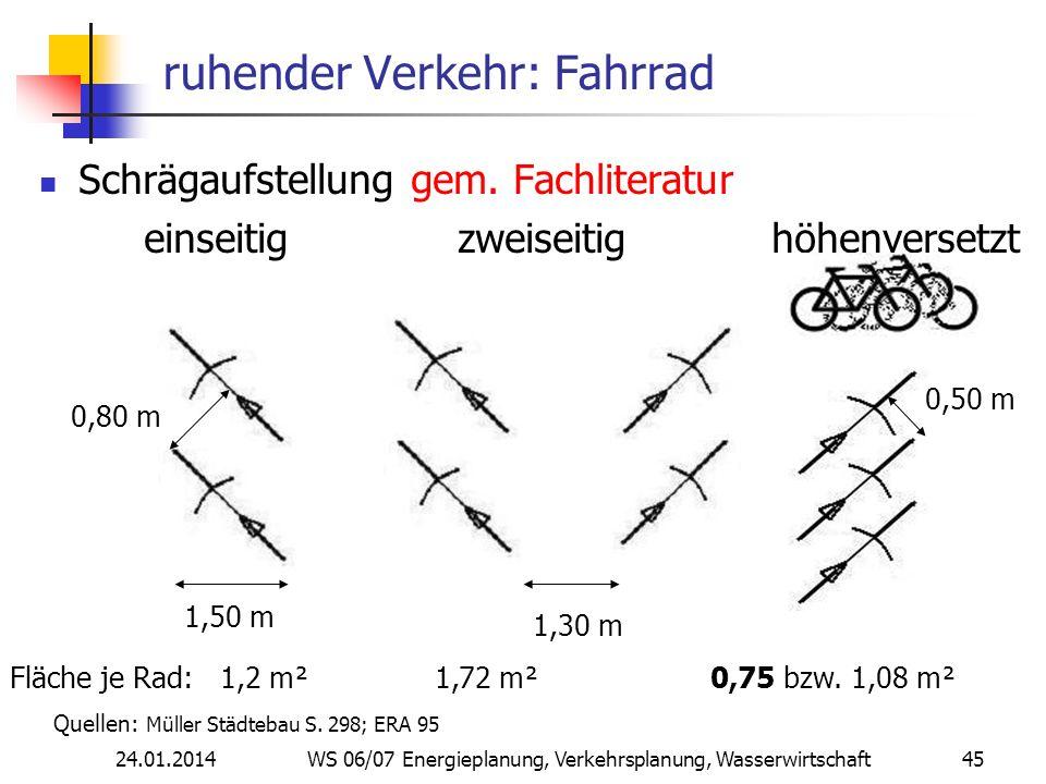 ruhender Verkehr: Fahrrad