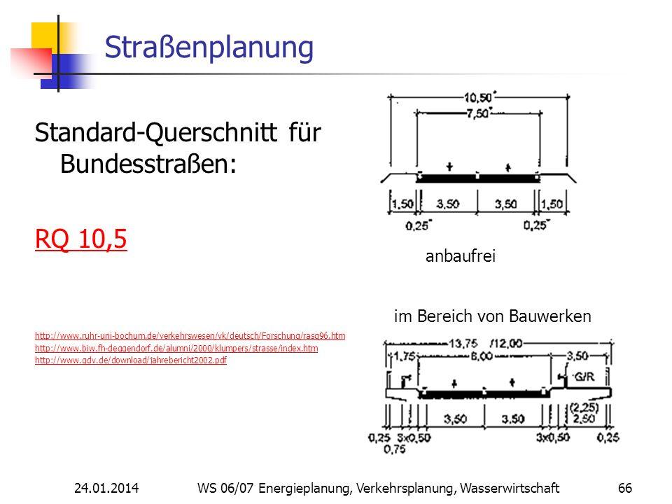 Straßenplanung Standard-Querschnitt für Bundesstraßen: RQ 10,5