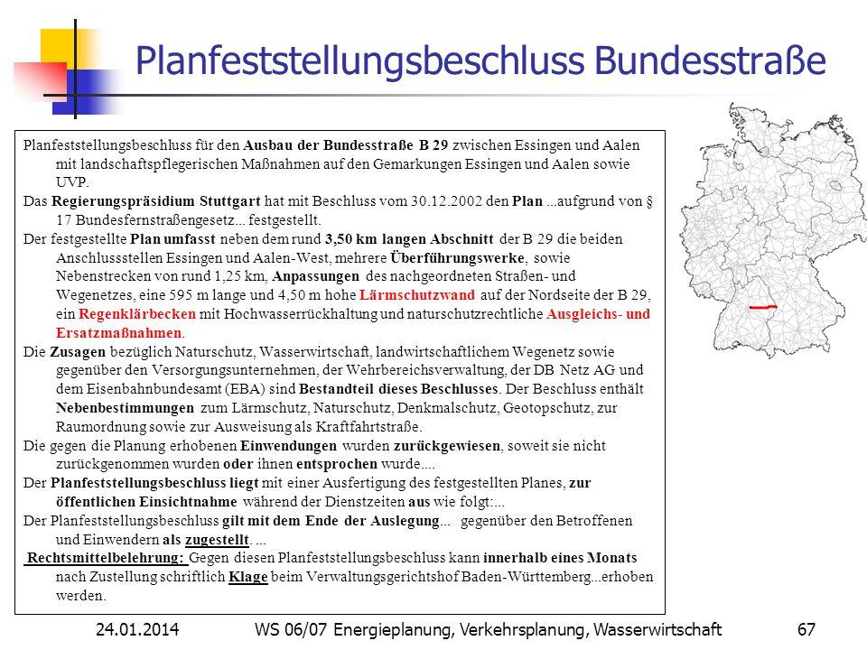 Planfeststellungsbeschluss Bundesstraße