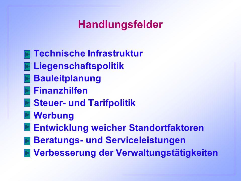 Handlungsfelder Technische Infrastruktur Liegenschaftspolitik