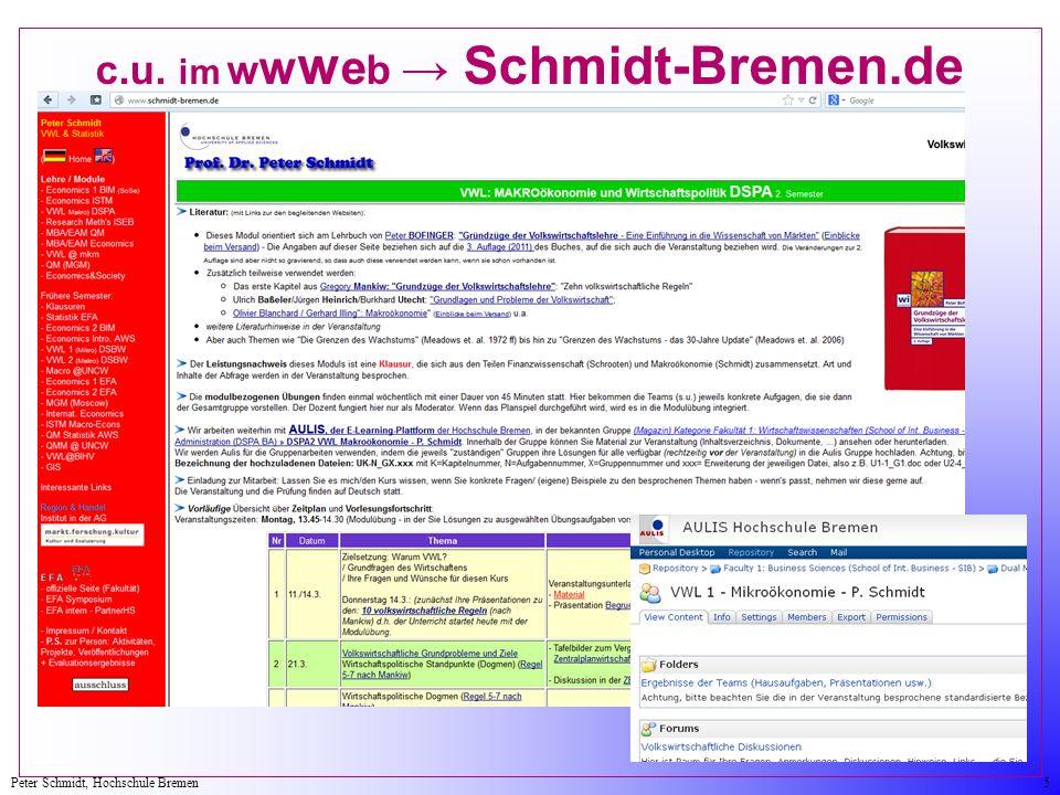 c.u. im wwweb → Schmidt-Bremen.de