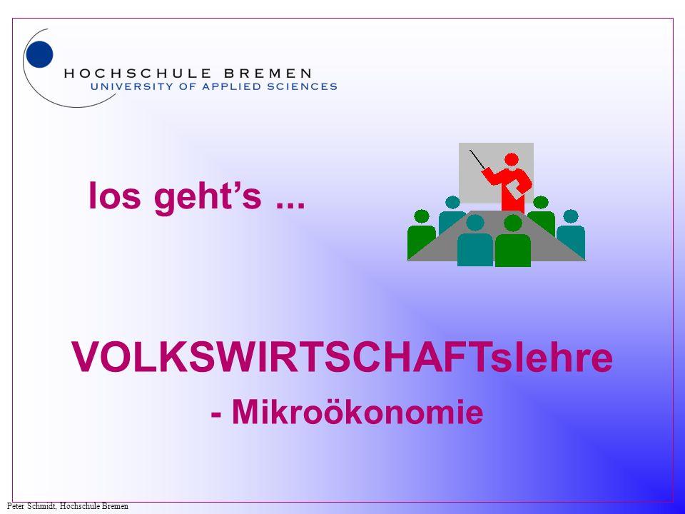 VOLKSWIRTSCHAFTslehre - Mikroökonomie