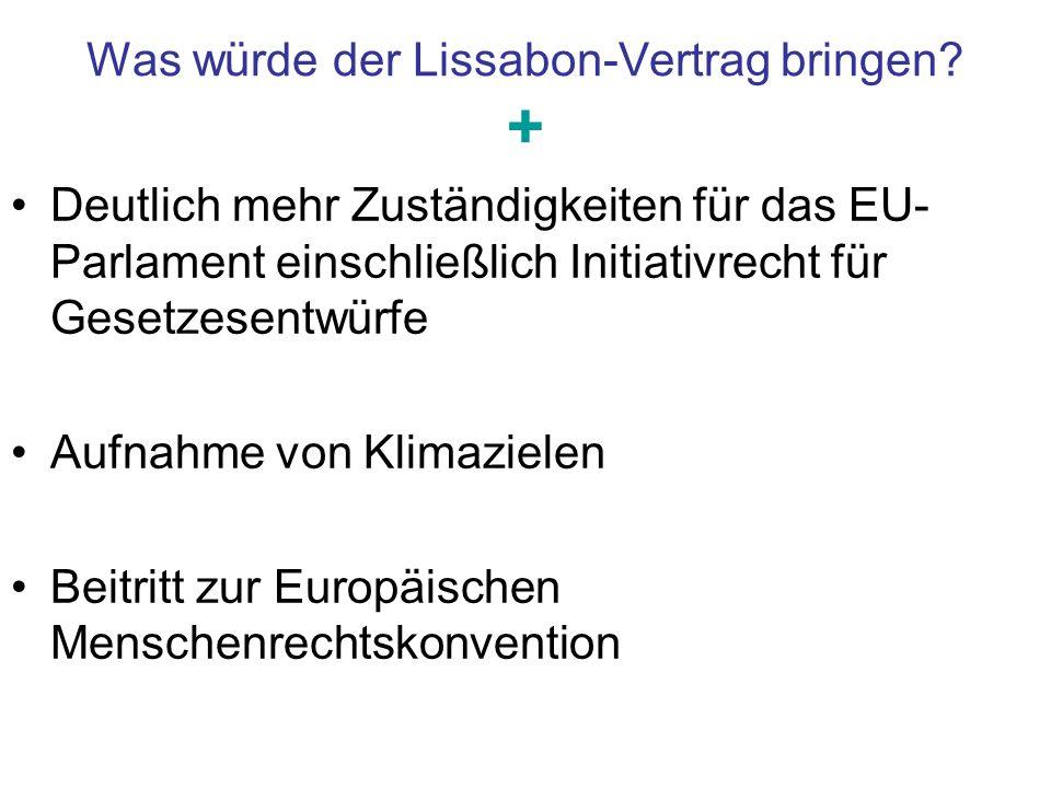 Was würde der Lissabon-Vertrag bringen +