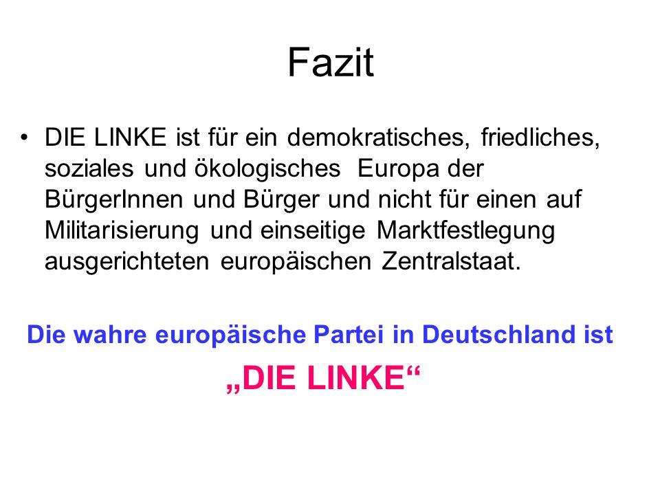 Die wahre europäische Partei in Deutschland ist