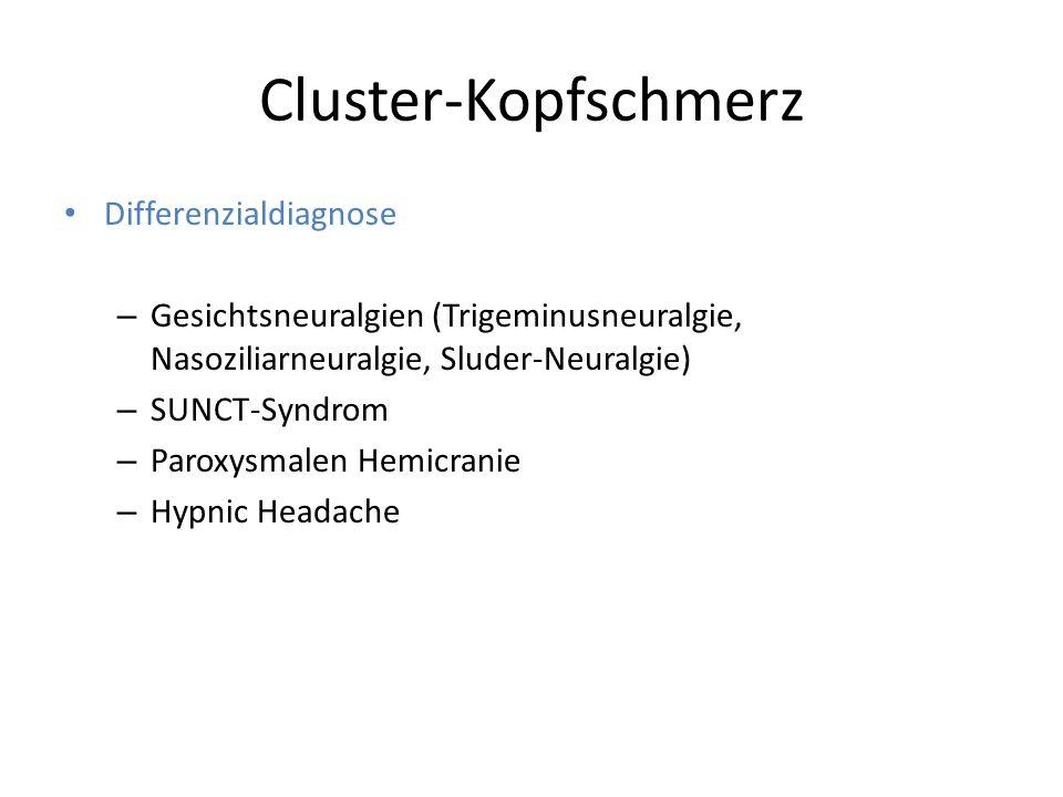 Cluster-Kopfschmerz Differenzialdiagnose