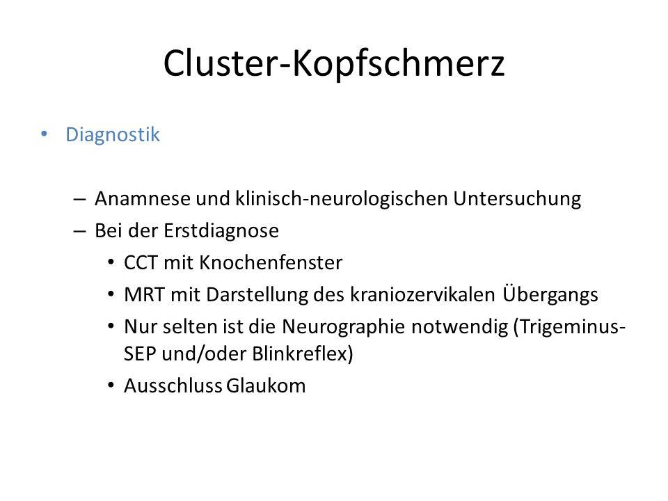 Cluster-Kopfschmerz Diagnostik