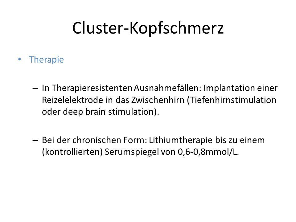 Cluster-Kopfschmerz Therapie