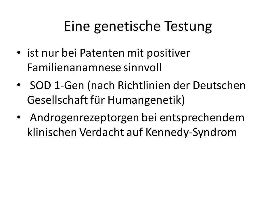 Eine genetische Testung
