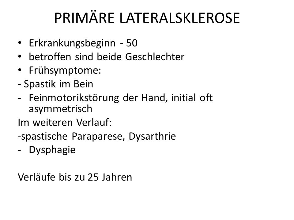 PRIMÄRE LATERALSKLEROSE