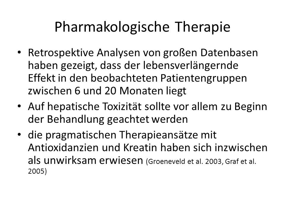Pharmakologische Therapie